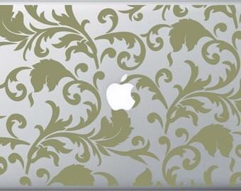 Vintage Floral Wallpaper MacBook Decal
