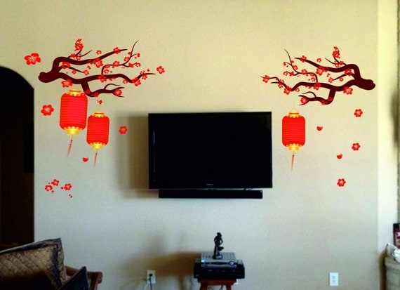 Faux Chinese Lamp Wall Decal by Walls2LifeDecals
