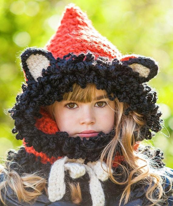 Crochet Fox Hooded Cowl Pattern : Crochet PATTERN Fox Cowl crochet cowl pattern by grannypattern