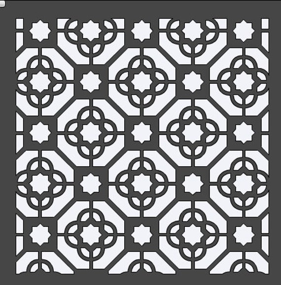 Moroccan Tile Stencil 12x12 By Houseofdavis On Etsy