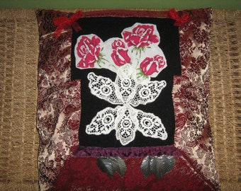 Hand sewn Upcycled Gypsy Style Cushion cover