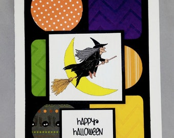 Handmade Witch Halloween Card