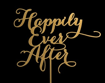 Sale Happily Ever After Wedding Cake Topper