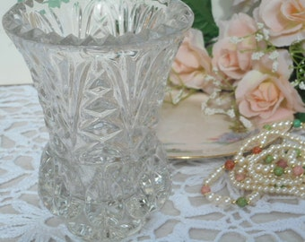 Vintage Posy Vase  ~ Heavy & 24% Lead Crystal  ~  Made by Zajecar Yugoslavia