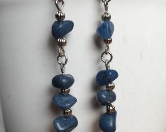 Rockin Dark Blue Dangle Earrings