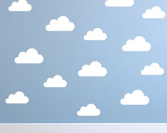 Set of Clouds Wall Decal - Nursery Wall Decal - Childs Room Wall Decal - Cloud Decal -  Wall Decor - Cloud Wall Art - Vinyl Wall Sticker
