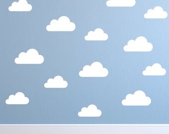 Nursery Wall Decals Etsy - Nursery wall decals clouds