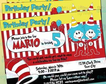 Dr Seuss Party Invitation 2