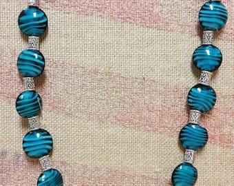 Gorgeous Blue & Silver Necklace