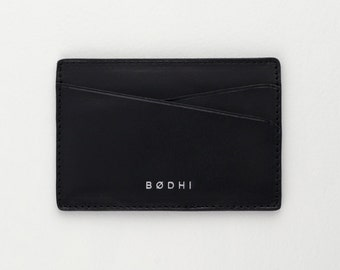 Leather Card Holder Wallet | Black | FREE SHIPPING WORLDWIDE