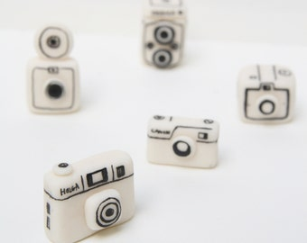 Vintage cameras Miniature made from air-dried clay