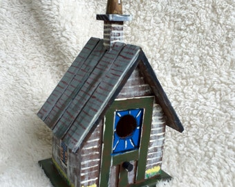 Hand Painted Church Birdhouse