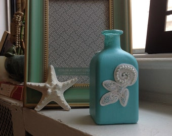 Hand-painted Baby Blue Decorative Bottle