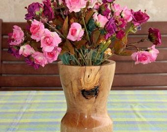 Decorative Vase - Decorative Art - Wooden Vase - Wood Turned Vase - Wood Vessel - Wood Turning Art - Home Decor - Boho Décor