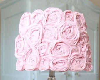 Vintage Pink Flower Lamp Shade  FREE SHIPPING!!!
