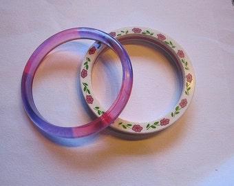 A Pair of Vintage Plastic Bracelets