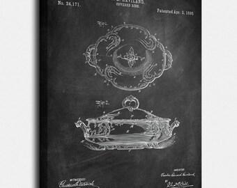 Haviland Dish Canvases,  Patent,  Art,  Blueprint,  Print,  Prints,  Wall Art,  Decor