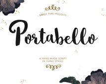 Portabello Hand-Lettered Brush Font