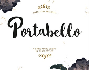 Portabello Hand-Lettered Brush Font