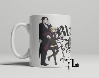 Black Butler Sebastian , Ciel , Alois , and Claude mug cup