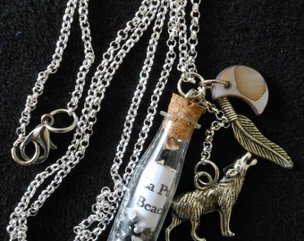 Twilight necklace with bottle