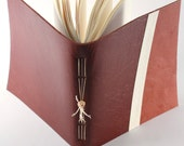 Brown leather notebook - personal diary - travel book - soft bookbindings for sketches, drawings, poems, stories, calligraphy ...