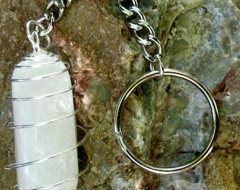 Polished Quartz Key Chain