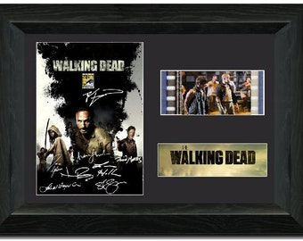 The Walking Dead 35mm Film Cell display Framed comic con signed