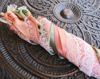 Wedding Ribbon Wands Quadruple Ribbons Without Bell