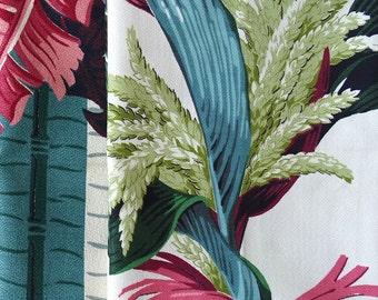 Two Vintage Barkcloth Textiles