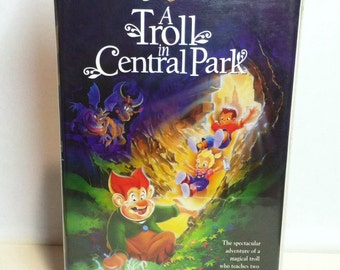 A Troll in Central Park VHS tape 1994