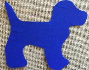 Fabric Iron on Royal Blue Dog