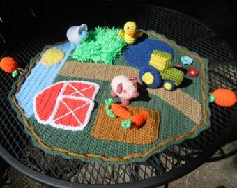 Crochet Farm Playset for Children