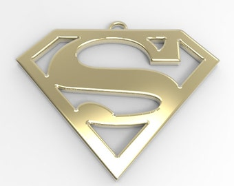 Superman 14k Gold Pendant