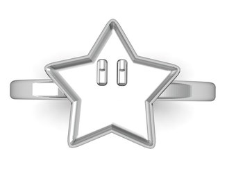 Mario Star Power Ring in Sterling Silver