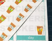 70 Coffee or Tea Stickers (perfect for planners)