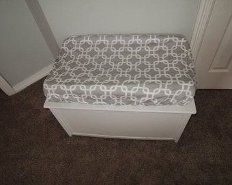 Gray Lattice Changing Pad Cover