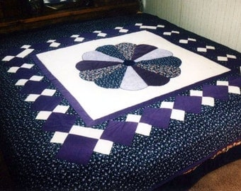 Purple Passion Dresden Plate Medallion Quilt Pattern