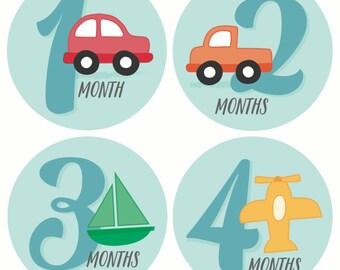 GIFT OFFER, Monthly Baby Sticker Boy, Baby Month Sticker, Milestone Sticker, Month by Month Baby Sticker, Baby Gift, Baby Boy