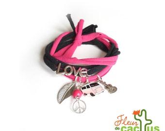 Bracelet Peace & love