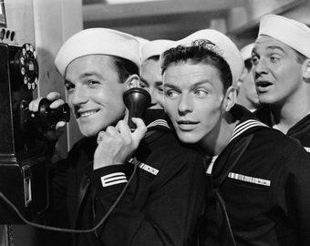 Gene Kelly Frank Sinatra Anchors Aweigh Hollywood Poster Art Photo 11x14
