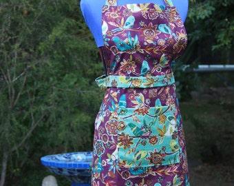 Flattering, handmade, 100% cotton apron