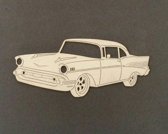 1957 CHEVY Car Wall Art(Birch Wood)