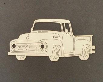 1956 FORD TRUCK Wall Art(Birch Wood)