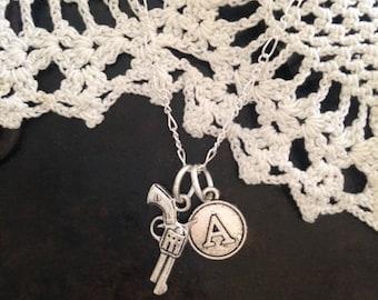 Monogram Gun Necklace