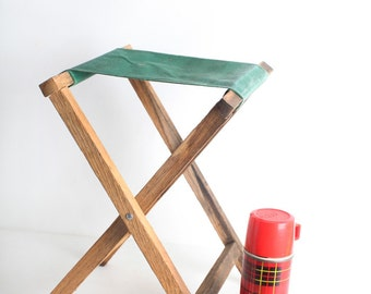 Vintage Wooden Camp Stool