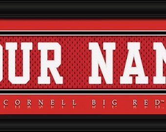 Cornell Big Red-Free Shipping -Personalized Jersey Stitch FRAMED Print-NCAA