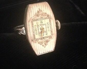 Steampunk Clock Face Ring