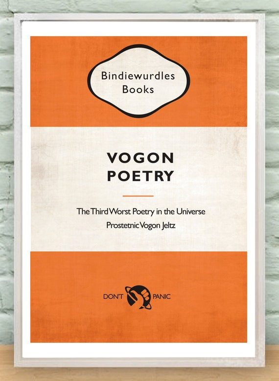 Poetry Book Cover Guide ~ Hitchhiker s guide to the galaxy vogon poetry book