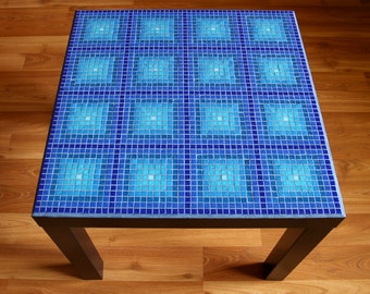 Blue Mosaic Table